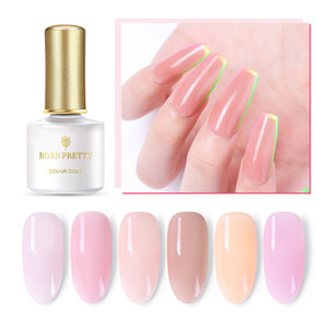 Wholesale Cheap Nail BORN PRETTY Jelly Pink Nail Semi transparent Yellow Purple ml Soak Off UV Gel Peel Off Gel Base