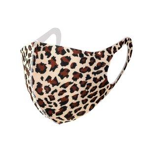 fashion CAMO leopard print mask washable ice silk face mask men women pm2.5 dustproof in stock