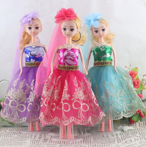 Wholesale Party Wedding Dress Clothes Gown dress For Barbie doll bride dress