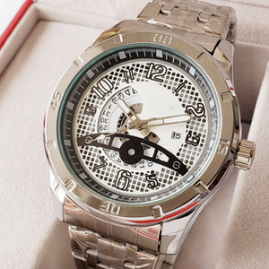 Wholesale 2019 new high quality business leisure hot European and American big dial steel band scratch proof mirror quartz male watch ES