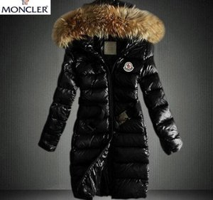 Wholesale 2019 new style Women Winter Warm Down Jacket With Fur collar Feather Dress Jackets Womens Outdoor Down Coat Woman Fashion Jacket Parkas