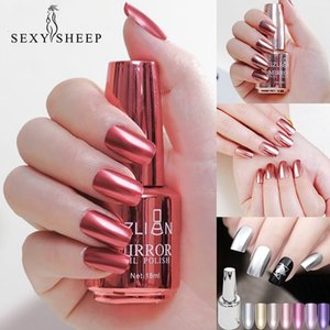 SEXYSHEEP 8 18ml Mirror Effect Metallic Nail Polish Purple Rose Gold Silver Chrome Nail Art Varnish For Nails Manicure Lacquer on Sale