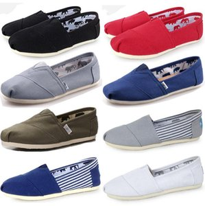 Wholesale Drop Shipping Summer Classic Canvas Shoes Women Men Solid Color Casual Shoes For mens Loafers Lazy Flat Shoes Womens Sneakers Size