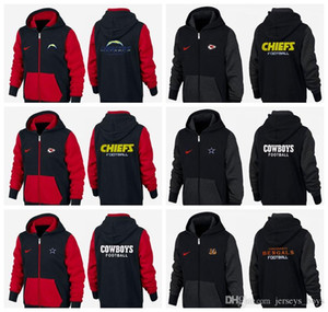 New Type Guard Clothes of 2019 black and red Los Angeles Kansas City Dallas Cincinnati Cowboys Chiefs Chargers Bengals hoodie Sweater