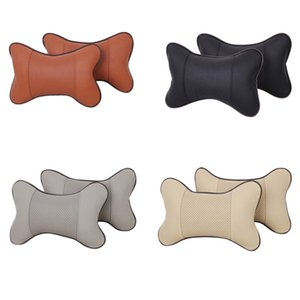 2017 New Car Neck Pillow Mat PU Leather Headrest Car-covers Soft Perforating Design Auto Supplies Fashion Style