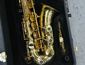 Wholesale gold sax resale online - YANAGISAWA A Alto Saxophone High Quality Gold Lacquer Sax Musical Instruments with Mouthpiece Case Accessories