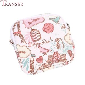 Wholesale Transer Women Girl Cute Sanitary Pad Organizer Purse Holder Napkin make up Bag Cosmetic Pouch Case sanitary napkin bag a12