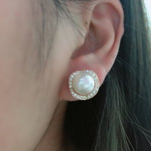 No Piercing Earring For Women Wedding Fashion Simple Simulated Pearl Clip Earing with Tiny Austrian Crystal Best Christmas Gift on Sale