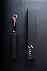 Wholesale umbrella men black for sale - Group buy Umbrella Men Crystal Handle Umbrellas Black Coating Umbrella Business Men Women Rain Sun Parasol Mens Gift Usefull XX11