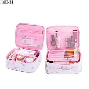 HMUNII Brand Women Travel Cosmetic Bags Durable Waterproof Oxford Cosmetic Case Beauty Box Organizer Makeup Toiletry Bag HM-010 #110241
