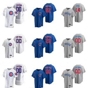 nuevos jerseys de béisbol estilo al por mayor-2020 New Seasons Baseball Javier Baez Jerseys cosido Anthony Rizzo Kris Bryant Best Quality Nk Style Gold White Black Blue Blue