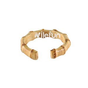 Round arch arc C shape ring bamboo wood rattan grass bracelet ring pull bag handle with opening cut