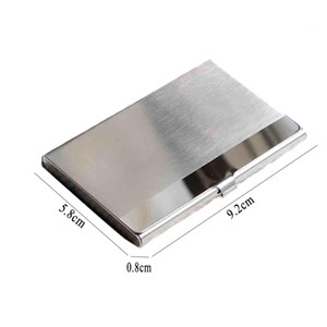Wholesale Hot Sale Business Card Case Stainless Steel Aluminum Holder Male Metal Box Cover Credit Men Business Card Holder Metal Wallet