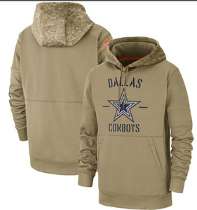 Wholesale hoodies kids resale online - 2020 Kids Women Men Dalla Tan Vintage Sweatshirt Salute to Service Sideline Therma Pullover cowboy Hoodie Tan