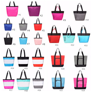 24 Colors Pink Black Handbag Shoulder Bag Classic Portable Shopping Bags Fashion Pouch for Women Ladies Tote