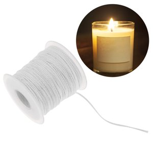 Wholesale 61m Environmental Spool Of Cotton Braid Wick Core For Diy Oil Lamps Candle Making Supplies Birthday Candles C19041901