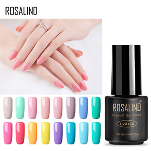 Wholesale ROSALIND Gel 7ML Pure Color Series Gel Nail Polish For Nail Extension 01-58 Design Of UV&LED Lamp Varnishes Manicure