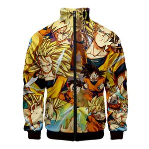 Shirt 2019dragon Carry Seven Dragon Ball Series 3d Printing Stand Collar Zipper Jacket Sweater T Shirts