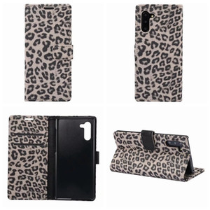 Wholesale Leopard Wallet Leather Case For Iphone XR XS MAX X Galaxy Note Pro S9 S10 S10e Animal Pocket ID Card Box Phone Cover Luxury