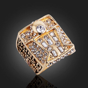 Wholesale Luxury Designer Champion Rings Bling Rhinestone Championship Ring Jewelry for Men Gift Bulls Gold Size