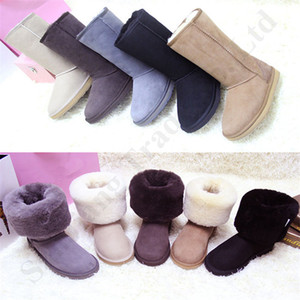 Wholesale Winter Australia U G Men Women Brand Snow Boots Flat Real Cowskin Boot Shoes Suede Fur Lined Warm Winter Knee High Tall Snow Boot UG C112209