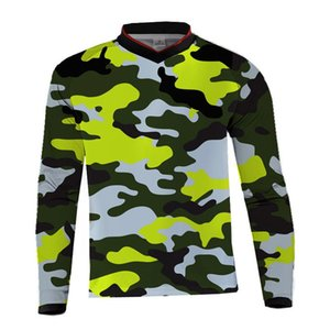 2019 Men camouflage Motocross MX jersey Mountain Bike DH Clothes Bicycle Cycling MTB BMX Jersey Motorcycle Cross Country shirts