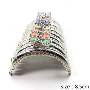 20pcs 10pcs 8.5CM Lotus head Bag Kiss Clasp silver semicircle Metal Coining Pattern Purse Frame DIY Bag Sewing Accessories AU519 SH190919 on Sale