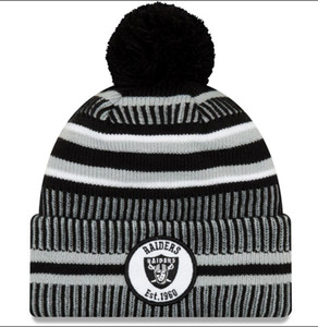 Wholesale New Sideline Beanies Skull Caps Hats American Football teams Sports winter side line knit caps Beanie Knitted Hats factory price