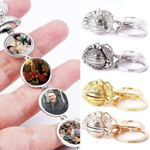 Expanding 4 Photo Locket Necklace Silver Ball Angel Wing Pendant Memorial Gifts