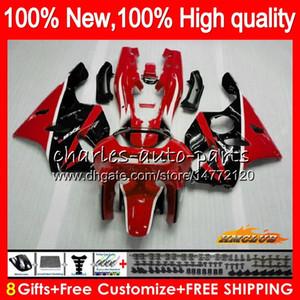 Body For KAWASAKI ZX 636 600CC ZX-636 ZX6R red black 94 95 96 97 50HC.17 ZX636 ZX-6R ZX600 ZX 6 R 6R 1994 1995 1996 1997 Full Fairing kit