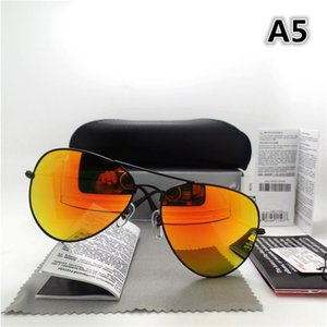 Wholesale-High quality Glass lens Men Women Polit Fashion Sunglasses UV Brand Designer Vintage Sport Sun glasses With box and sticker
