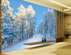 Wholesale snow backgrounds for sale - Group buy Custom any size photo beautiful scenery wallpapers snow wallpapers TV background wall decoration painting