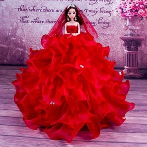 Wholesale Dress A Doll Wave Fund Birthday Gift Princess Toys d Eye Bride Goods Of Furniture For Display Rather Than For Use Children