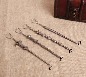 Newest Wax Tool Dab Dabber Vintage Harry Movie Inspired Magic Wand Pendant Necklace Alloy Material keychain 8 Styles Choose Gift