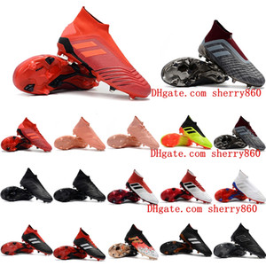 Wholesale high top soccer cleats for sale - Group buy 2018 top quality mens soccer cleats Predator FG soccer shoes Predator FG high ankle football boots outdoor scarpe da calcio
