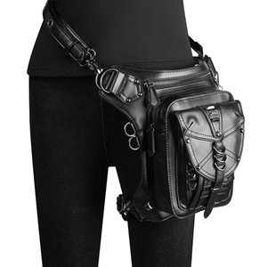 Norbinus Steampunk Waist Bags Women Motorcycle Thigh Hip Belt Leg Packs Men Victorian Style Holster Bag Messenger Shoulder Bags