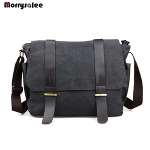 Wholesale Shoulder Men Across Travel Messenger Student Male Canvas Bag J190611