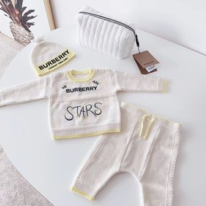 Wholesale 4 pcs Baby Knitted Sweater Romper 0-24 Months With star Hat Cotton Long Sleeve Autumn Winter Infant Soft Baby Boy Girl Jumpsuit