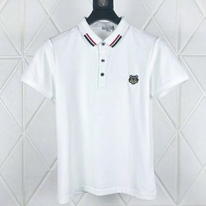 Wholesale Embroidered tiger Polo shirts mens designer t shirts brand clothing short sleeve summer calssic luxury High Quality Business Casual tops tee