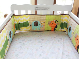 Wholesale cribs sales resale online - Hot Sale New Cot Bumper cotton Cartoon animais flower Crib Bumpers for newborn Baby protect bumpers set for infant boy girl