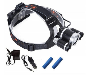 Wholesale 2020 Rechargeable Headlight Lm xm T6 Led HeadLamp head light Fishing Lamp Hunting Lantern x battery Car AC USB Charger