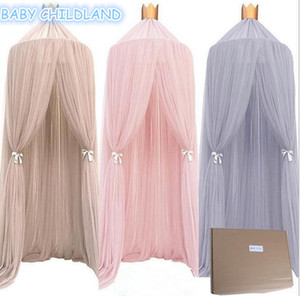 Wholesale Mosquito Net Kids Bedding Round Dome Hanging Bed Canopy Curtain Chlildren Baby Room Decoration Crib Netting Tent Q190530