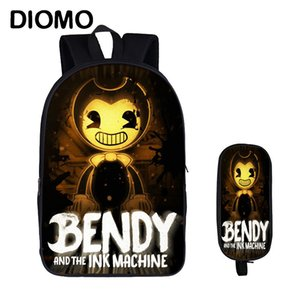 Wholesale Diomo Teenager Bendy And The Ink Machine School Bags Set Kids Backpack Boys With Girl Child Satchel Children Laptop Pencil Case J190427
