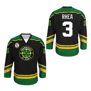 Wholesale Ross The Boss Rhea GOON Movie St John's Shamrocks Hockey Jersey Embroidery Stitched Customize any number and name
