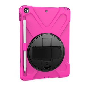 Wholesale HOT NEW For iPad Shockproof Kids Protector Case For iPad2 Heavy Duty Silicone Hard Cover kickstand design Hand Pen Sleeve