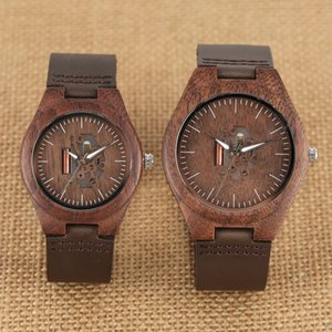 Wholesale Wooden Quartz Watch Ultra Light Handmade Walnut Wristwatch Coffee Leather Band Antique Timepieces Clock Couple Watches