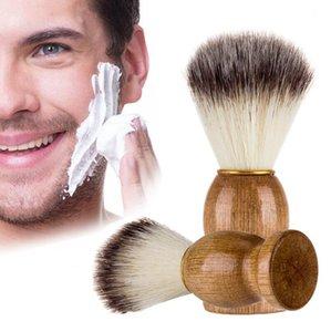Eco-friendly Barber Salon Shaving Brush Wooden Handle Blaireau Face Beard Cleaning Men Shaving Razor Brush Cleaning Appliance Tools