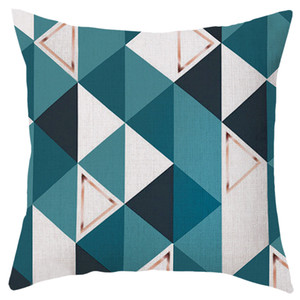 Multicolored Living Room Decorative Washable Polyester Modern Cushion Cover Office Abstract Home Printed Sofa Bedroom Geometric