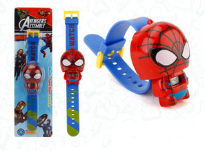 2019 New Spiderman electronic cartoon children's Watch Telescopic Child Watches For Student Boys Girl Kids Wristwatch Free shipping S001 on Sale