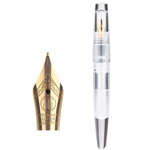 Moonman C2 Student Stationery Demonstrator Fine Nib Thread Design Transparent Fountain Pen Durable With Eyedropper Acrylic